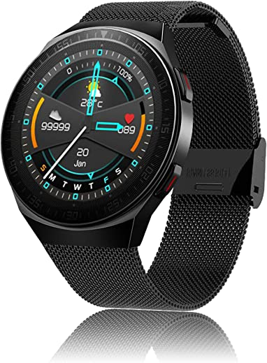 Smart Watch with Call, 8GB Music Storage, Fitness Tracker with Sleep Monitor, Business Sport Smart Watch for Men Women