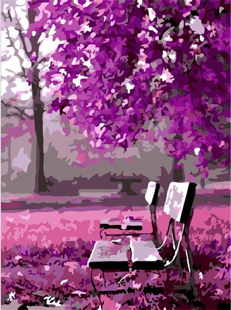 Diy oil painting, paint by number kit- Wait for romance 16 50cm   B00KQFOOBA