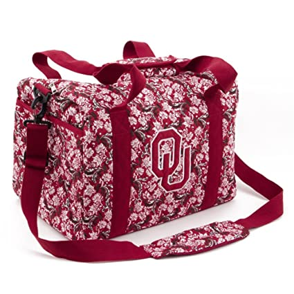 Image Unavailable. Image not available for. Color  Eagles Wings University  of Oklahoma Sooners Duffel Bag Bloom Quilted Mini ... be1b4bf7fbade