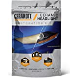 CERAKOTE Ceramic Headlight Restoration Kit – 3 Easy Steps - No Power Tools Required – Brings Headlights Back to Like New…