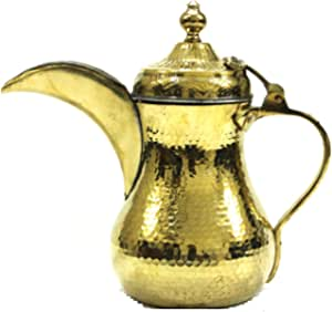 Dallah Nahas golden color medium size