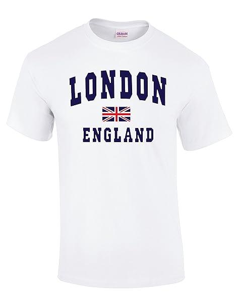 AA Londres Inglaterra con Union Jack Calidad Impreso Camisetas: Amazon.es: Ropa y accesorios