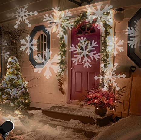 LIGHTESS Christmas Lights Xmas Snowflake Decorations Outdoor LED Light  Projector Waterproof Moving Projection Light Indoor Decor - Amazon.com : LIGHTESS Christmas Lights Xmas Snowflake Decorations