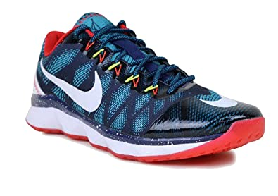 Mens Nike CJ3 Flyweave Trainer Baseball Shoe Sneaker, Mid Navy/  White-Radiant/