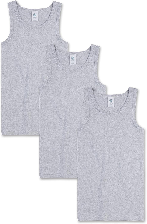 Made in Europe Sanetta Jungen Unterhemd im Dreierpack aus Bio-Baumwolle