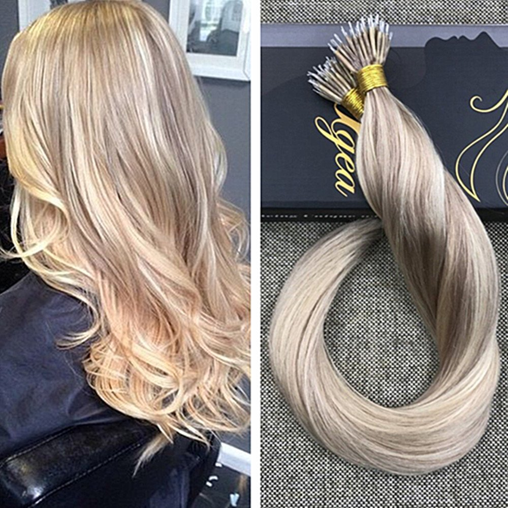 Amazon Ugeat 16inch Nano Rings Remy Human Hair Extensions