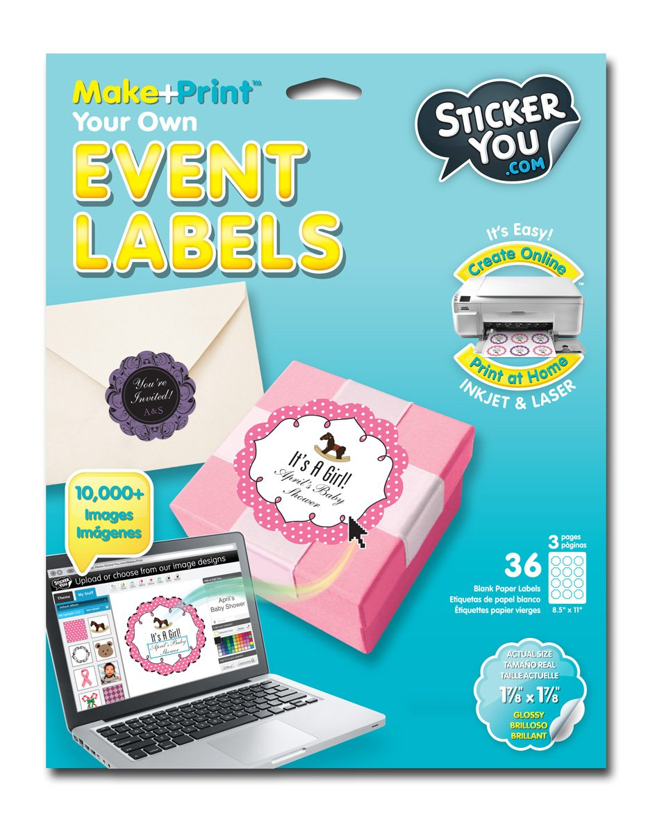 Sticker You 2311 36 Count Event Labels for Scrapbooking