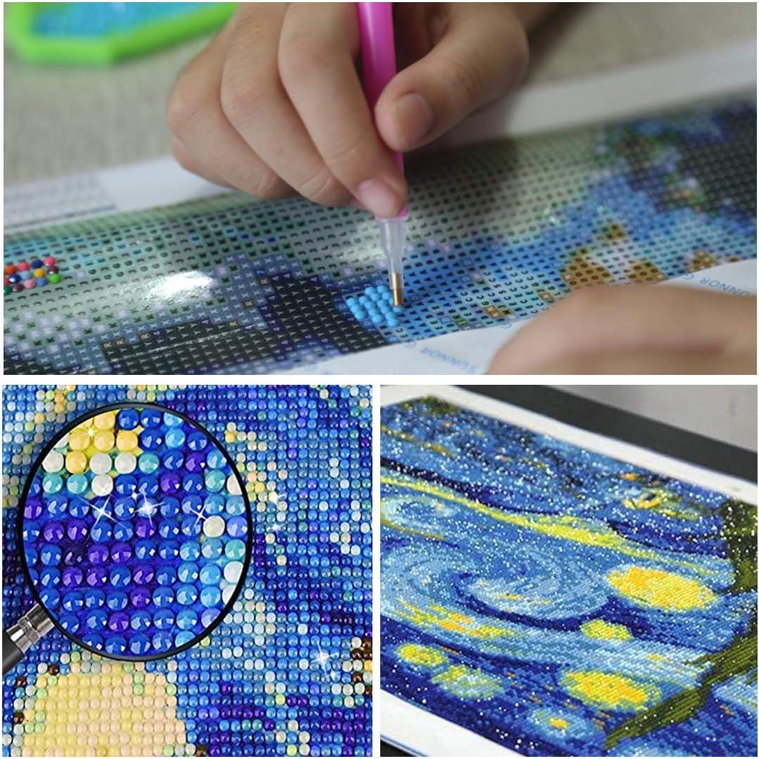 Noche estrellada 40 x 50 cm noche estrellada Kit completo de pintura de diamante 5D para adultos y manualidades LUUFAN decoraci/ón de pared de Van Gogh