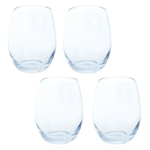 Dartington Crystal White Wine Stemless (4 Pack), 16.5 x 16.5 x 10.5 cm