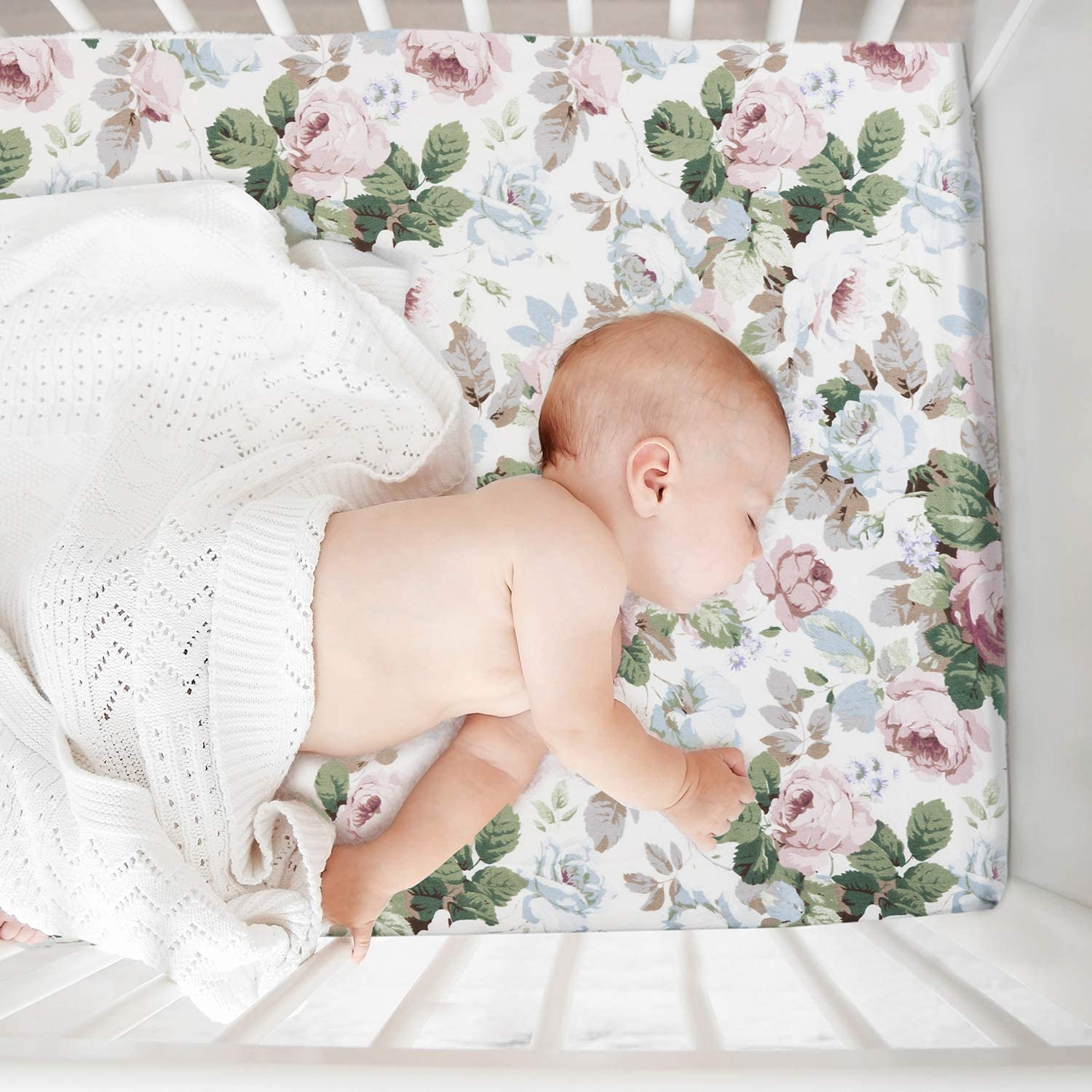 Chicco Lullago 2 Pack Floral Waterproof Sheet Set for Baby Girls Ingenuity Mini Co-Sleepers Like Oval Halo Momcozy Bassinet Sheets Fit for Bassinet Mattress Pad Cover Brown