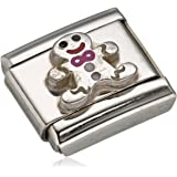 Nomination Composable Women's Charm Stainless Steel Enamel Snowman Head 330204/11