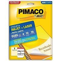 Etiqueta Ink-Jet/Laser Carta 279.4x215.9, BIC, Pimaco, 874791, Branca, 10 Etiquetas