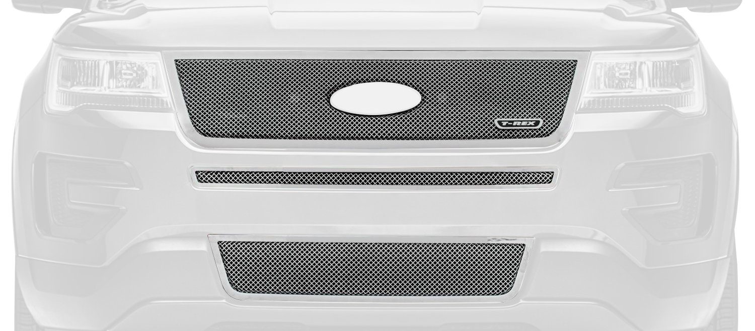 T-Rex Grilles 54664 Upper Class Series Polished Grille (Ford Explorer)