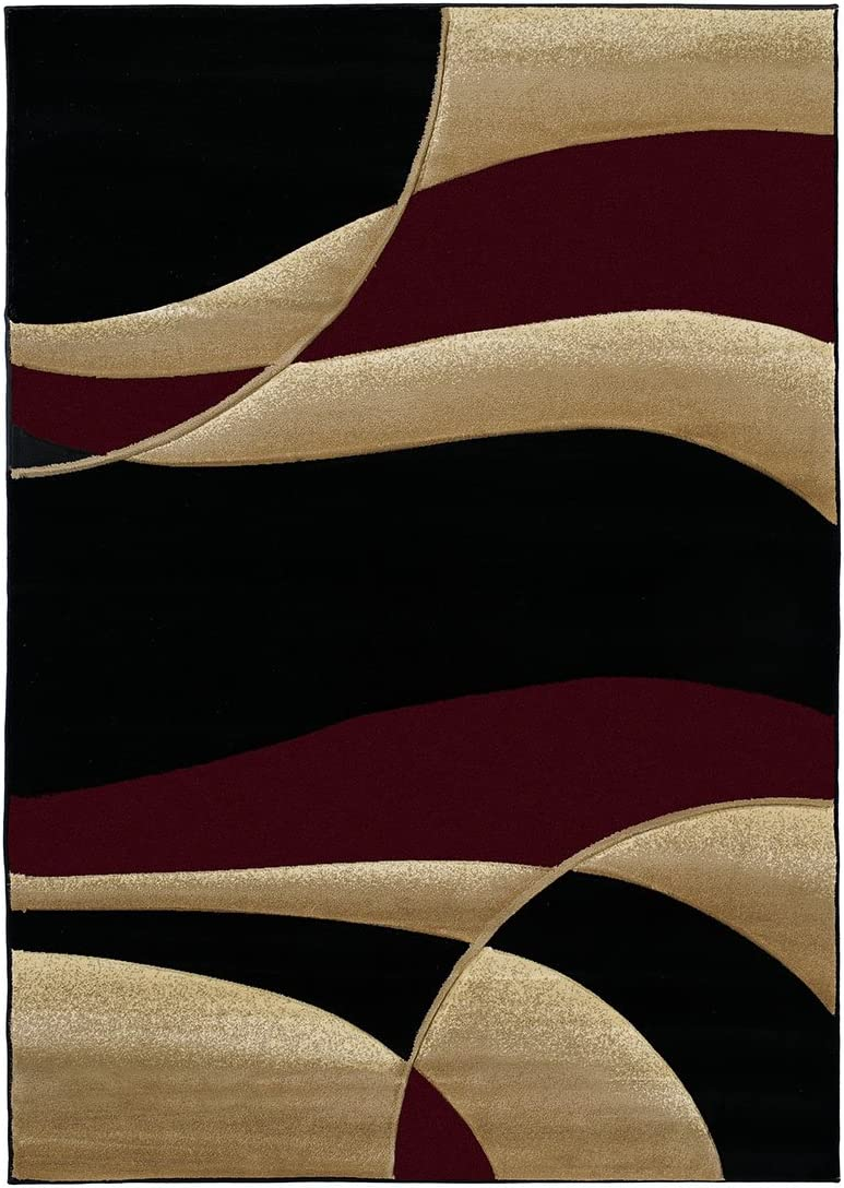 United Weavers of America Contours Avalon Burgundy Rug Rug Size Runner 2 7 x 7 4