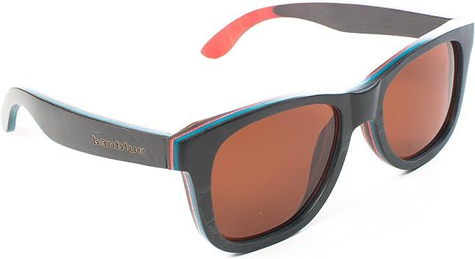 Full Wood Skateboard Polarized Anti-Glare Cat.3 Lens Sunglasses Full UV400 /&Case
