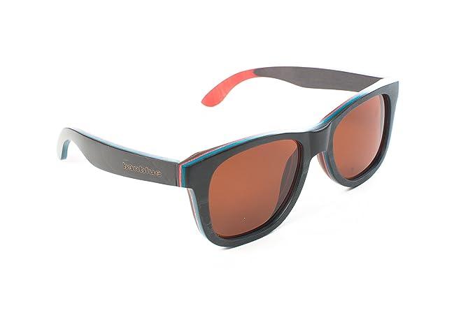 Amazon.com: banblue anteojos de sol de madera Skateboard ...