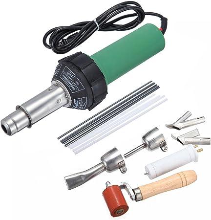1500W Hot Air Torch Welder Welding Gun Heat Tool Pistol Kit /& 4 Nozzle /& Roller