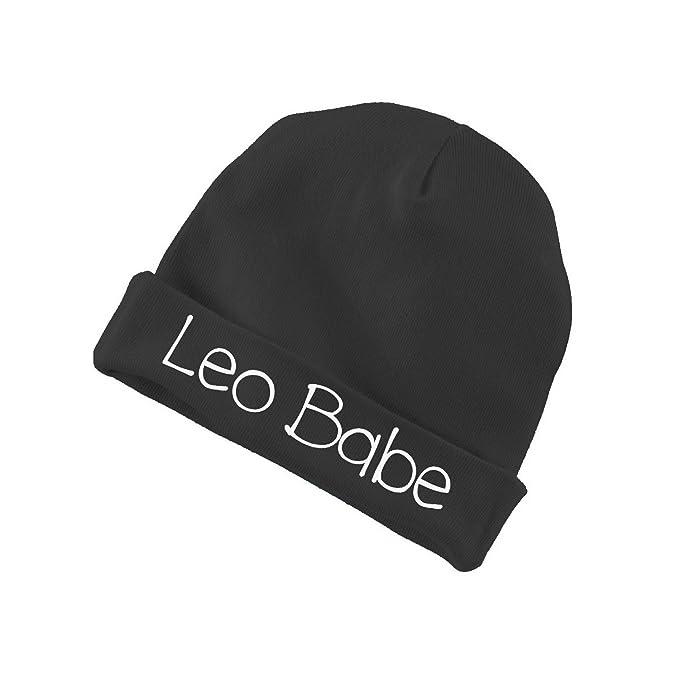 Amazon.com  Leo Babe Baby Beanie Cotton Cap Hat - BLACK  Clothing b6561a7ef69