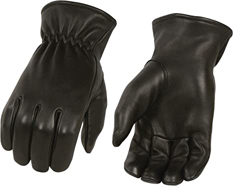MENS THERMAL LINED VERY WARM /& SOFT DEER SKIN LEATHER GLOVES WITH CINCH WRIST