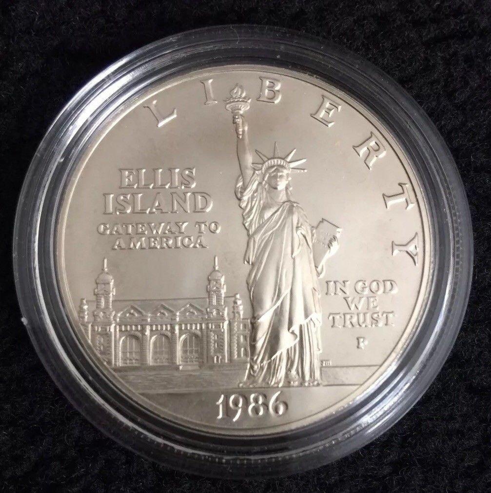 Ellis Island 1986-S Silver Proof $1