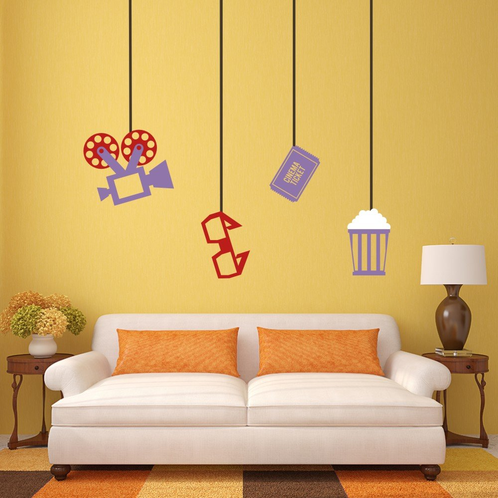 Amazon.com: The cinema theme Wall Decal Projector Wall Quote Glasses ...