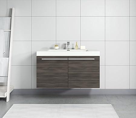 Badezimmer Badmobel Boston 90 Cm Eiche Dunkel Unterschrank Schrank