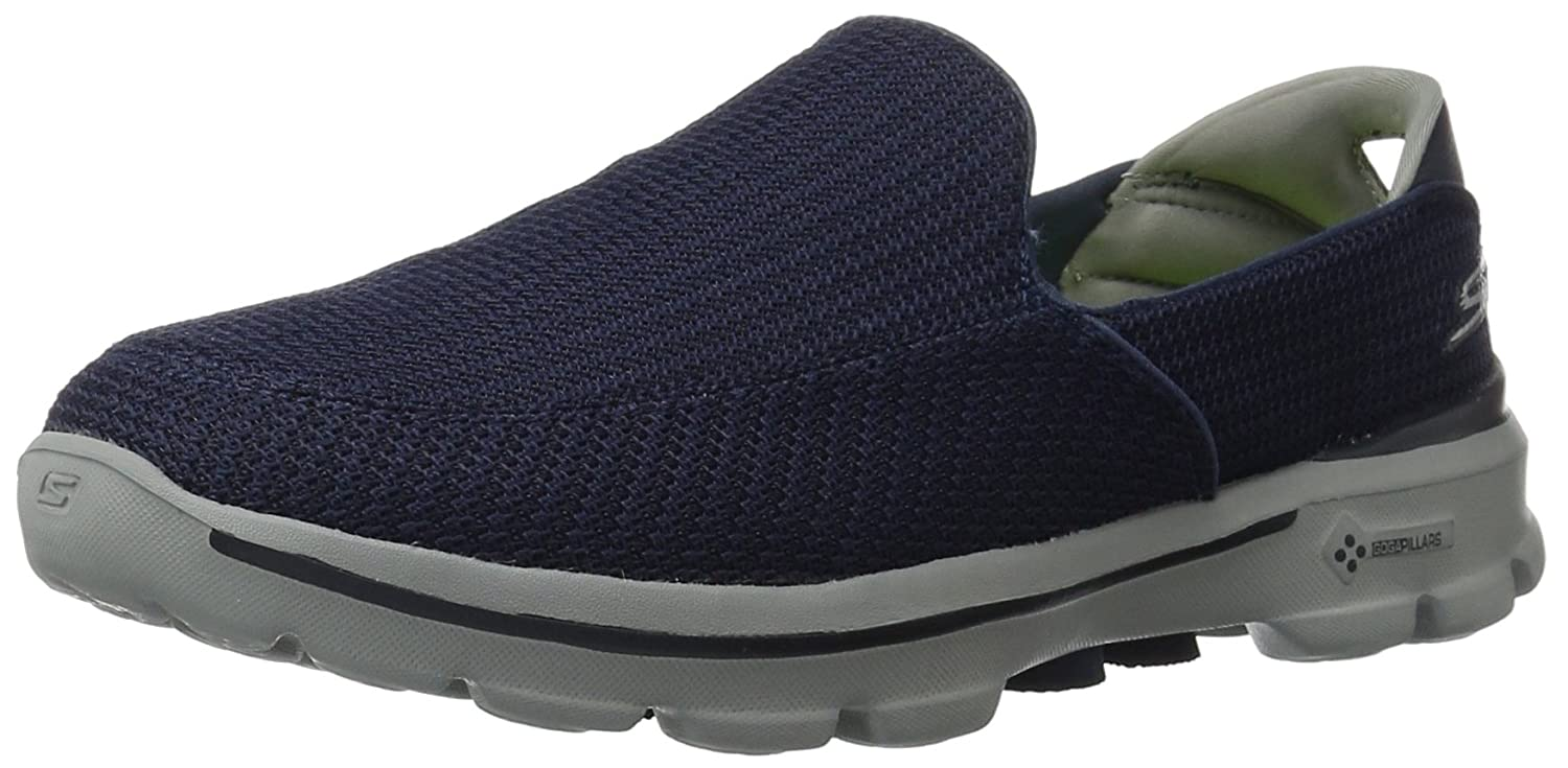 Navy and Grey Mesh Walking Shoes