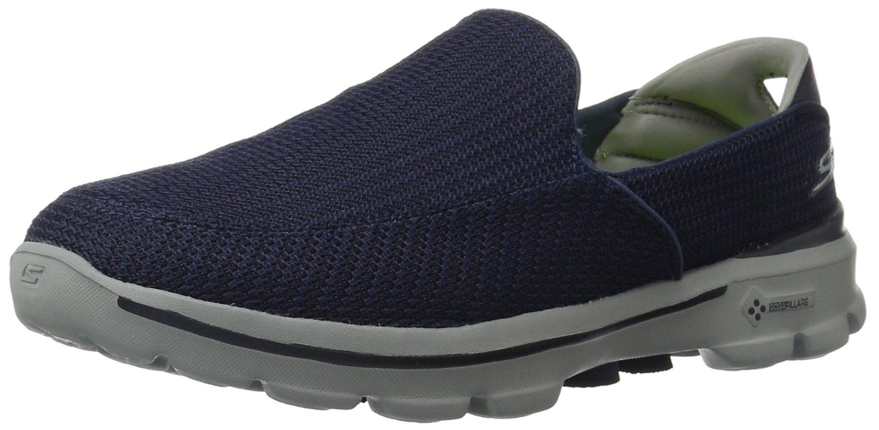 Calzado Skechers Rendimiento De Los Hombres Ir A Pie 3 Slip-on Caminar, Negro