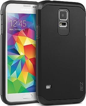 BEZ Funda Samsung Galaxy S5, S5 Neo, Carcasa Compatible para Samsung S5, S5 Neo, Antideslizante Ultra Híbrida Gota Protección, Cover Anti-Arañazos con Absorción de Choque: Amazon.es: Electrónica
