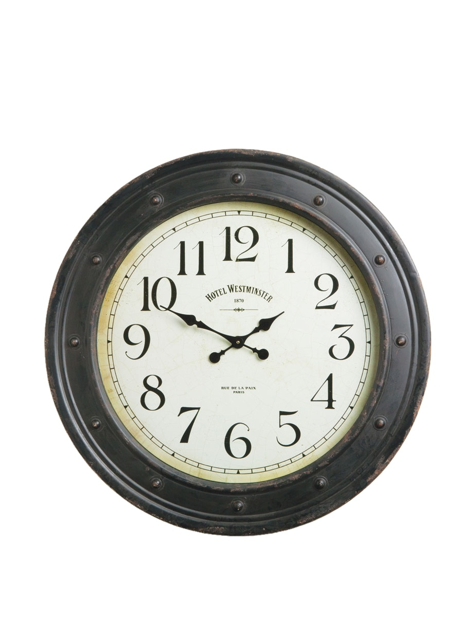 Napa Home & Garden Hotel Duvaleix Wall Clock, Ant Black
