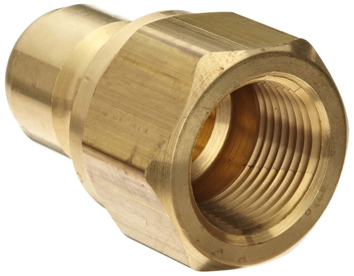 Dixon STFP6B Brass Hydraulic Quick-Connect Fitting, Plug, 3/4'' Female Coupling x 3/4''-14 Straight