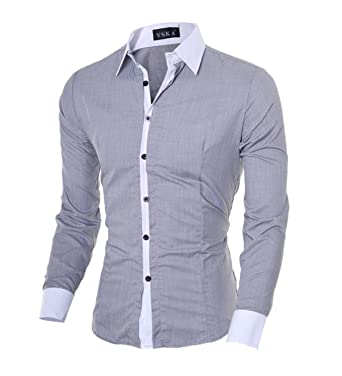 e9debf1c2e1 Image Unavailable. Image not available for. Color  HuoGuo NEW Hot Sale Men  Shirt Fashion Quality ...