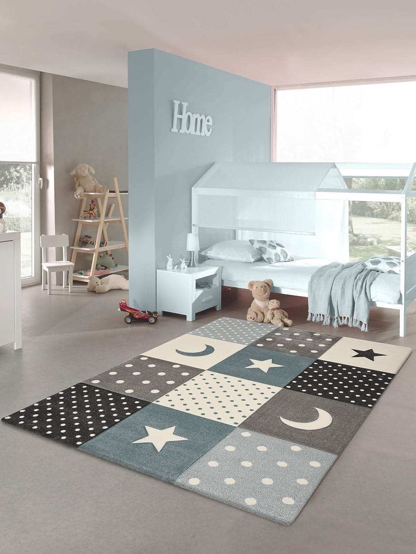 Tapis chambre enfant Etoiles bleu, 80 x 150 cm