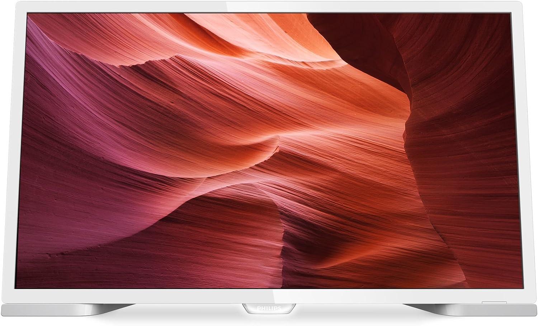 Philips 24PHH5210/88 - TV LED HD compacto de 24 pulgadas (60cm), resolución de 1366 x 768 Pixeles, relación de aspecto de 4:3 y 16:9, color blanco: Amazon.es: Electrónica