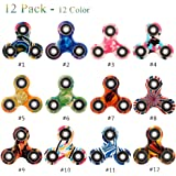Fidget Spinner 12 Pack ADHD Stress Relief Anxiety Toys Best Autism Fidgets spinners for Adults Children Finger Toy with Bearing Focus Fidgeting Restless Colorful Hand Spin by SCIONE