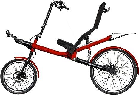 Camilla Cilindro de Mirage Nomad para adultos, con comodidad de asiento, 8 de marchas con cardán onda (sin cadena), 26 pulgadas y 20 pulgadas Rueda de bicicleta y, sillón de aluminio, rojo