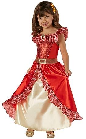 Disney - Disfraz de Elena de Avalor Deluxe para niña, infantil 5-7 años (Rubies 630038-M)