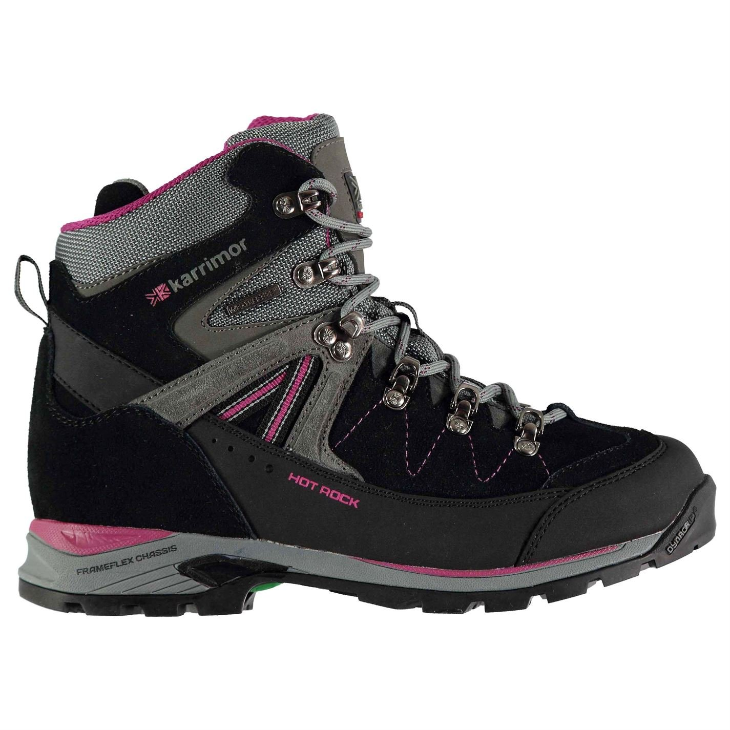 Womens Hot Rock Walking Boots Lace Up