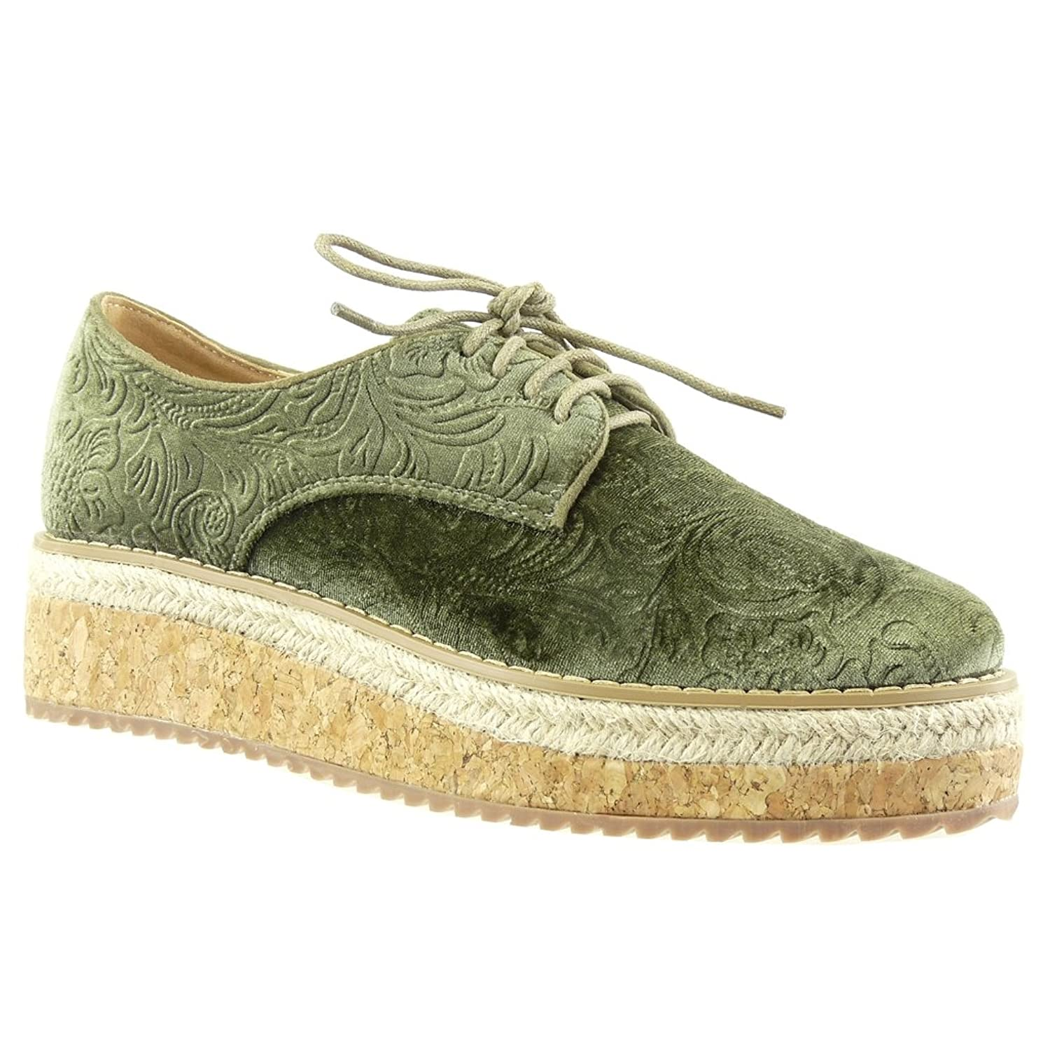 new Angkorly Chaussure Mode Derbies Espadrille plateforme