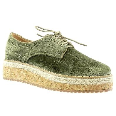 Zapatos verdes Angkorly para mujer xMIXwxVJq