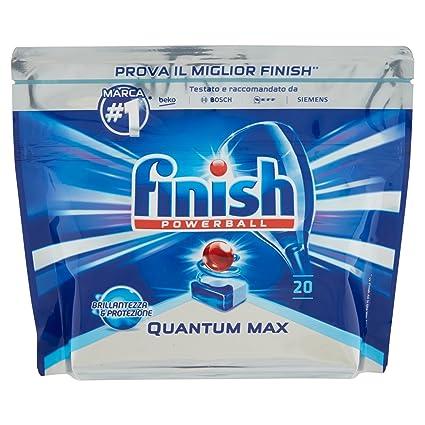 Finish Quantum Max - Detergente para lavavajillas, 20 ...