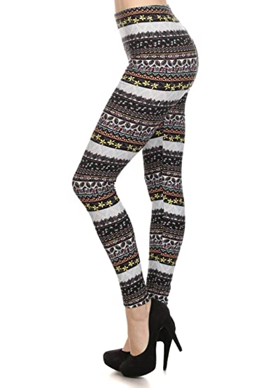 Always Womens Juniors Full Length Multicolored Floral Printed Stretch Leggings