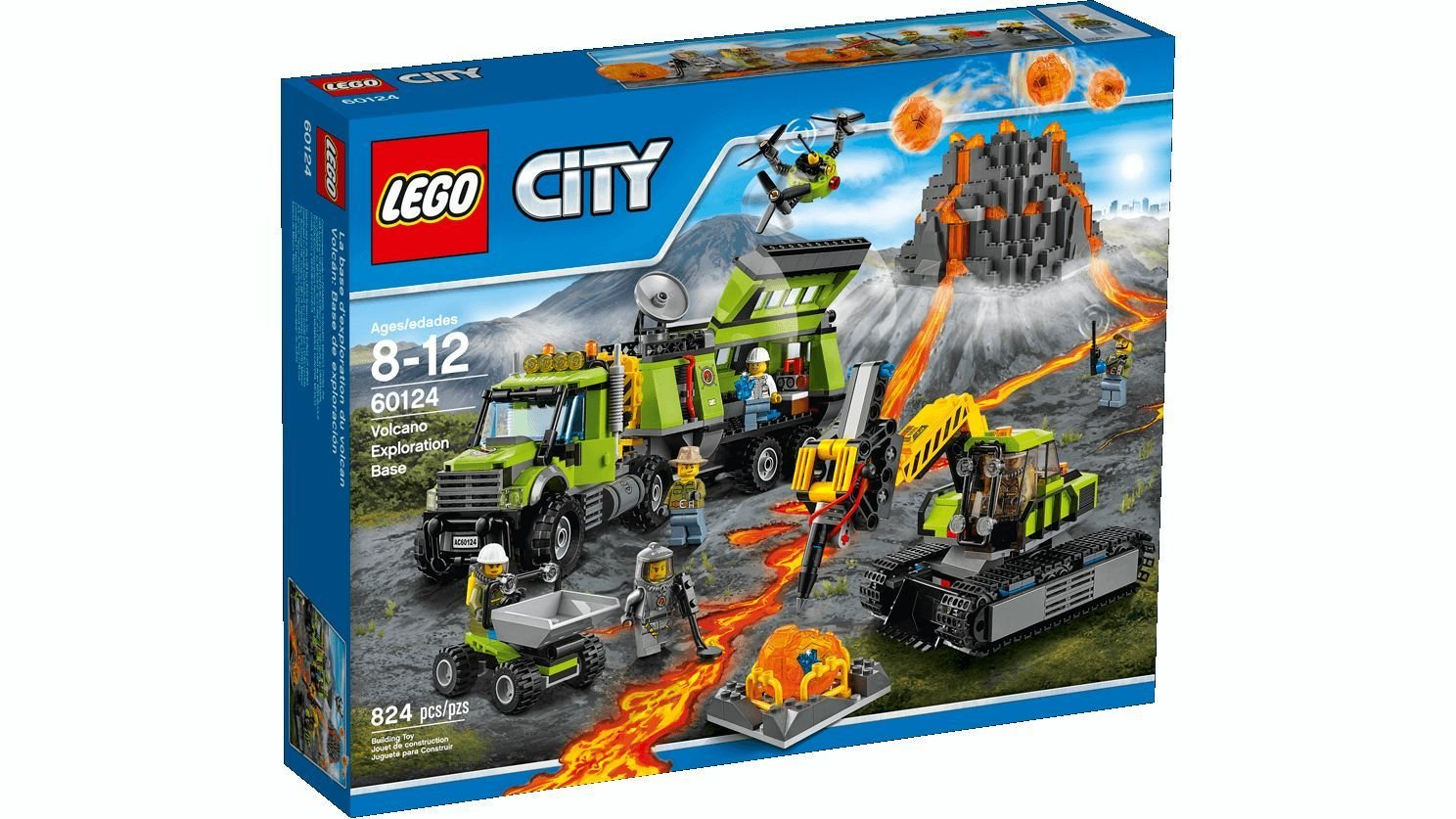 Offerte Lego City 60124 - Set Costruzioni City Vulcano Base Delle Esplorazioni Vulcanica