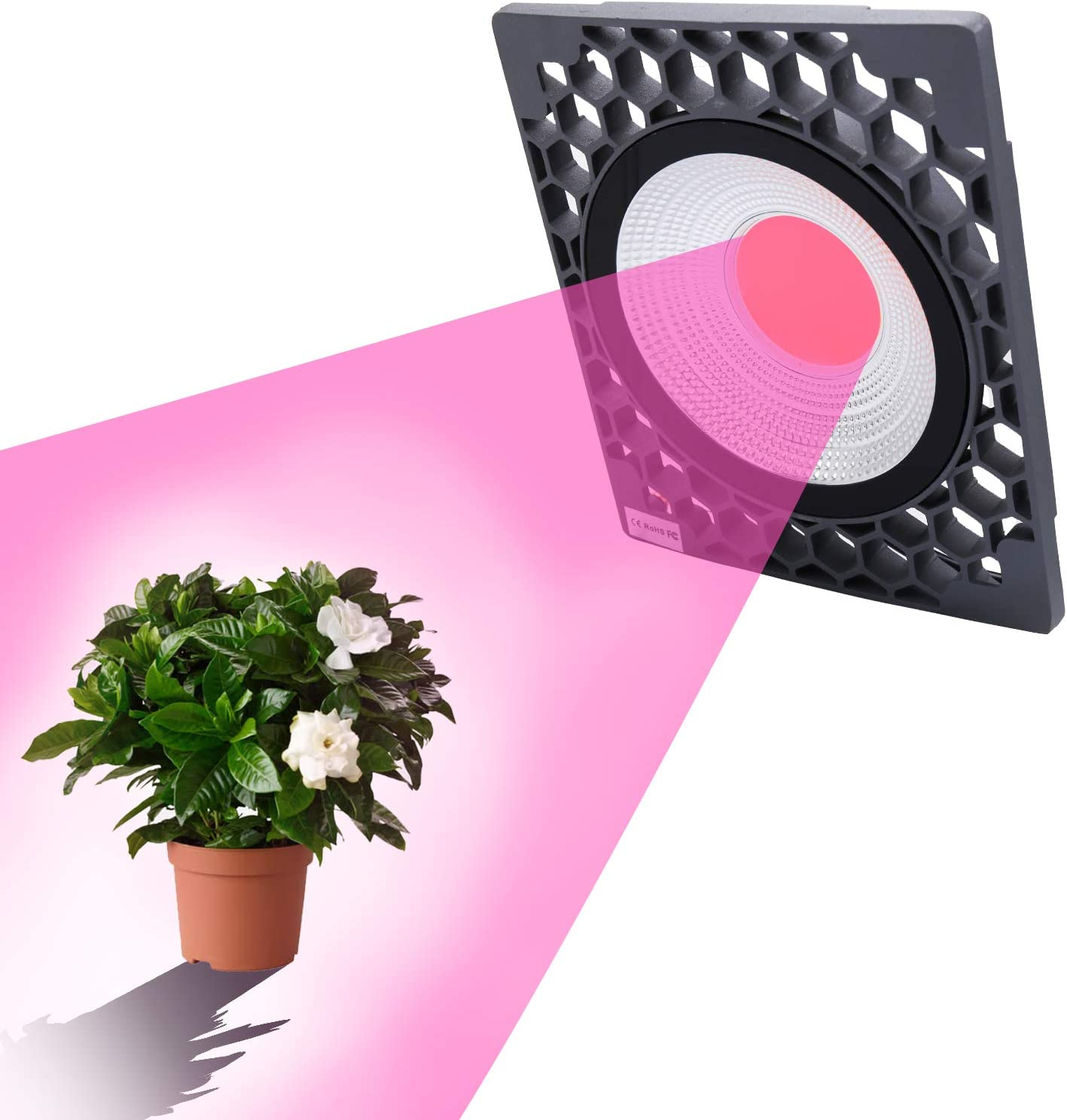 100W LED Grow Light Strip Hydroponic Full Spectrum Plant Lamp 4 Levels Dimmable