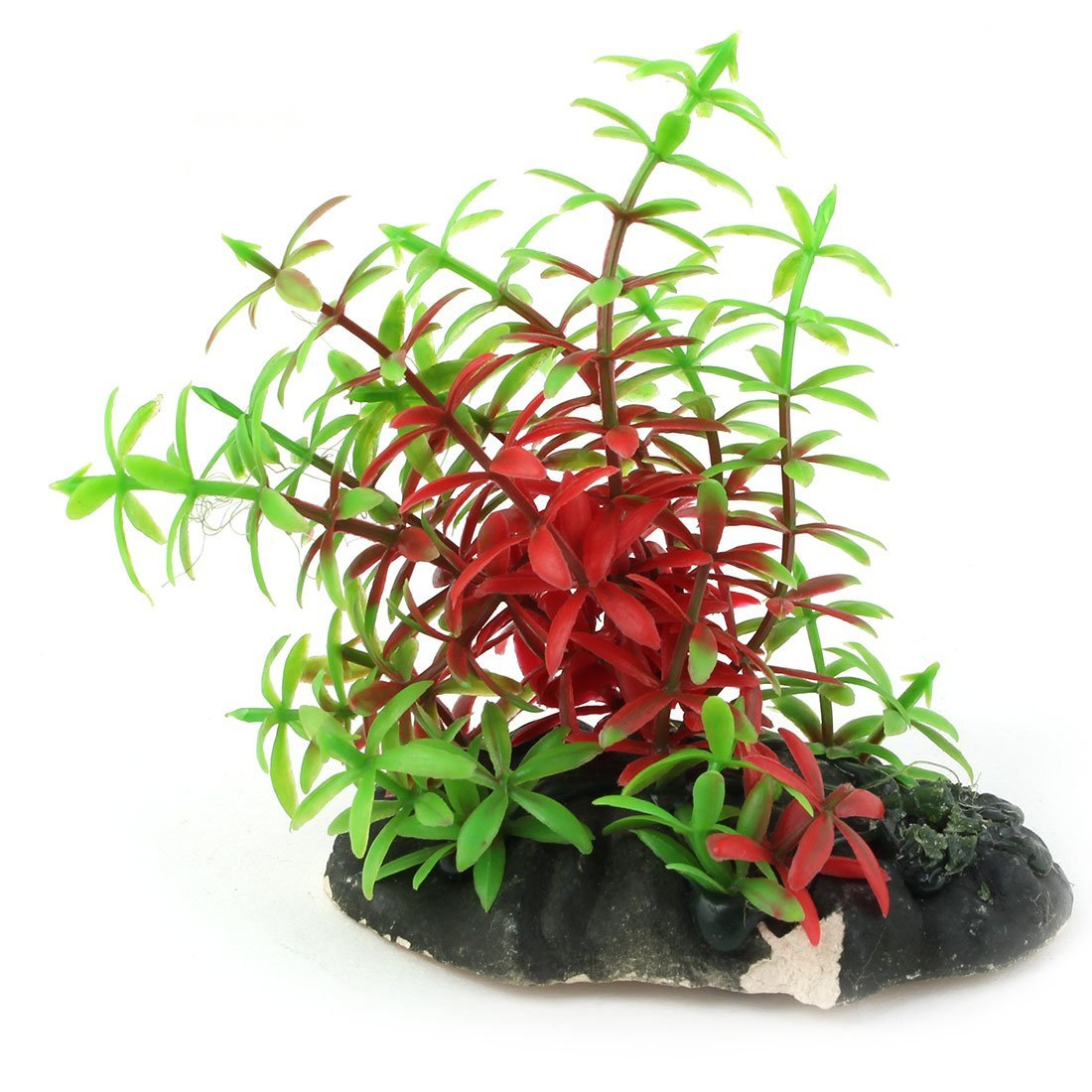 Amazon.com: eDealMax plástico del acuario Artificial Artificial emulational Hierba Planta de Acuario Decoración 2pcs Rojo Verde: Pet Supplies