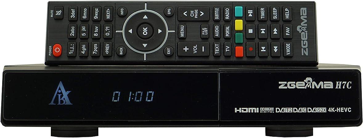 ZGEMMA H7C 4K UHD Receptor De TV Linux OS Enigma2 Doble Nnúcleo Multistream H.265/HEVC con DVB-S2/S2X+2*DVB-T2/C Soporte QT Stalker IPTV