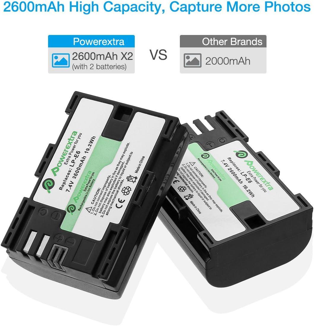 Powerextra Lcd Dual Ladegerät Und 2 Stück Ersatzakku Elektronik