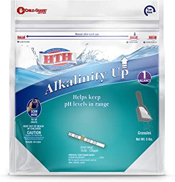 HTH 67043 Alkalinity Up Balancer for Swimming Pools, 5 lbs