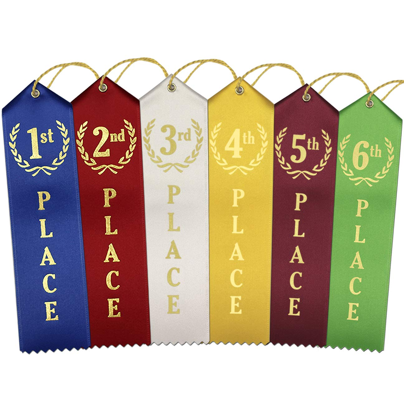 1st - 6th Place Award Ribbons - 12 Each Place (72 Count Total) by RibbonsNow
