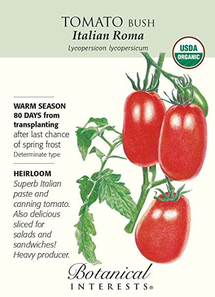 Italian Roma Tomato Seeds -  20 grams - Organic